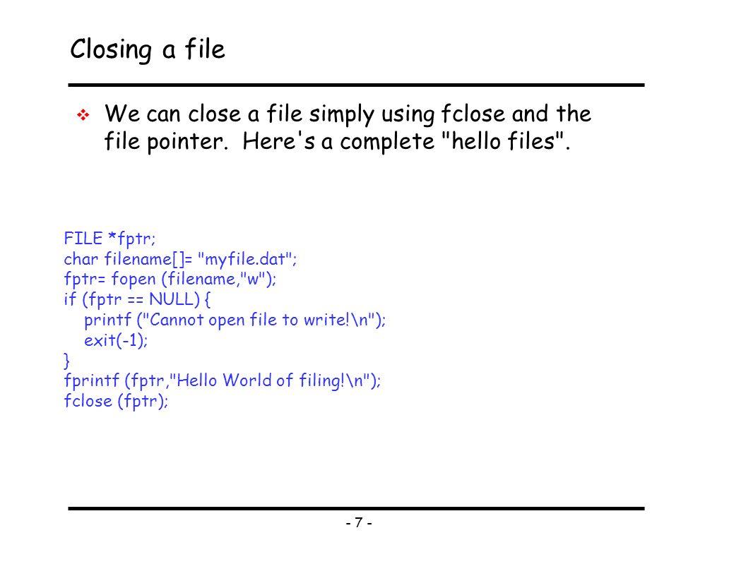 How do I close a file