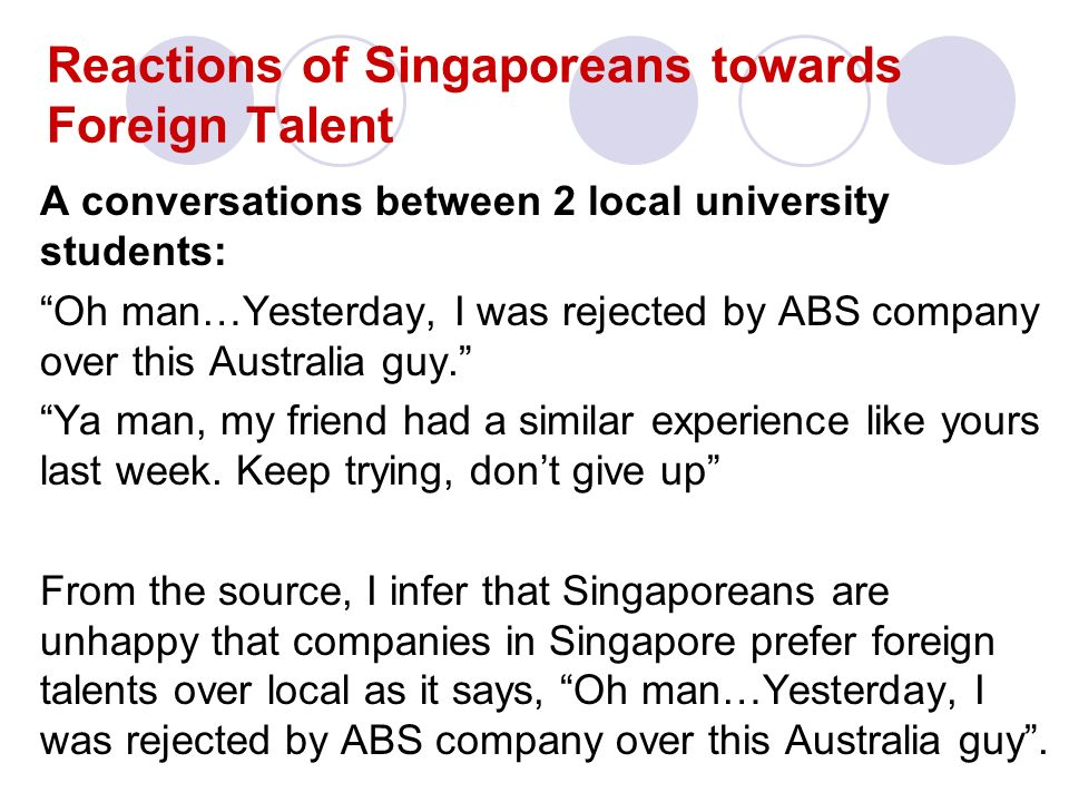 Changing times, changing needs: A Case Study of Singapore's