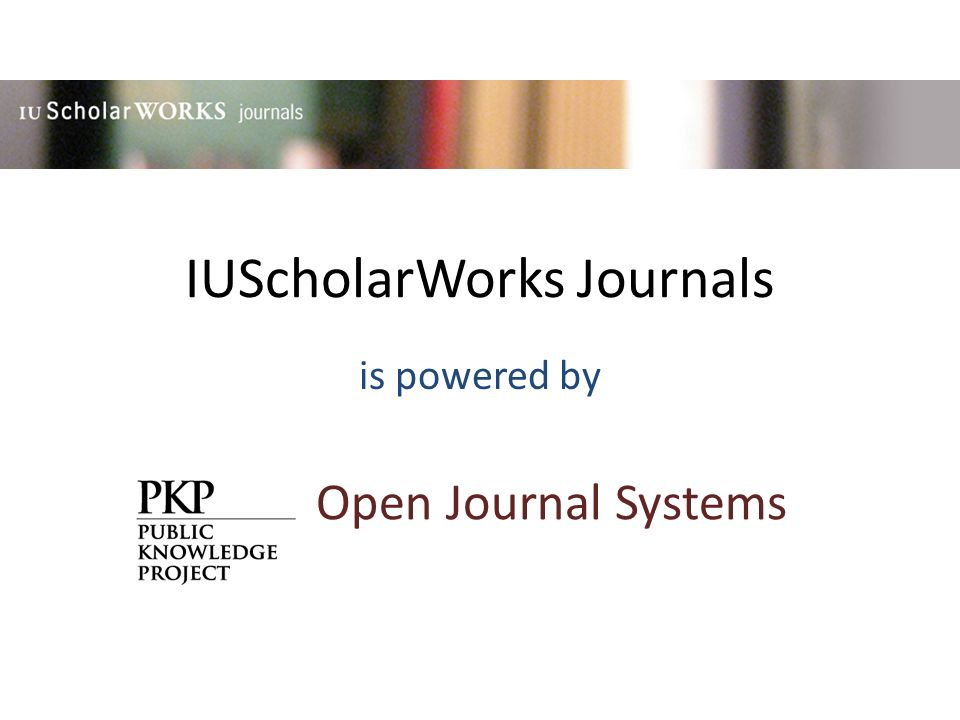 IUScholarWorks is a set of services to make the work of IU