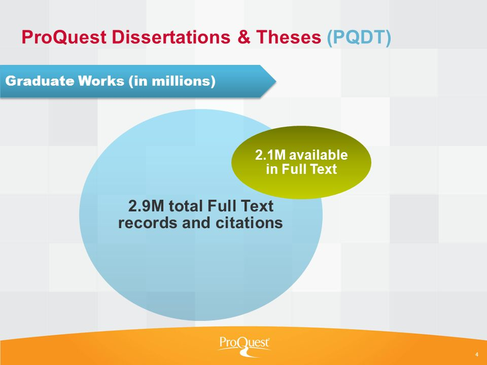 proquest dissertations and theses 2005 Proquest dissertations & theses global (1637+) this link opens in a new window each dissertation published since july, 1980 includes a 350-word abstract written by the author.
