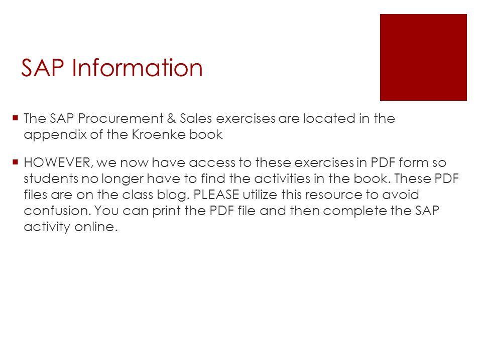 Assignment # 2 SAP  Due Date- April Conclusion of Class