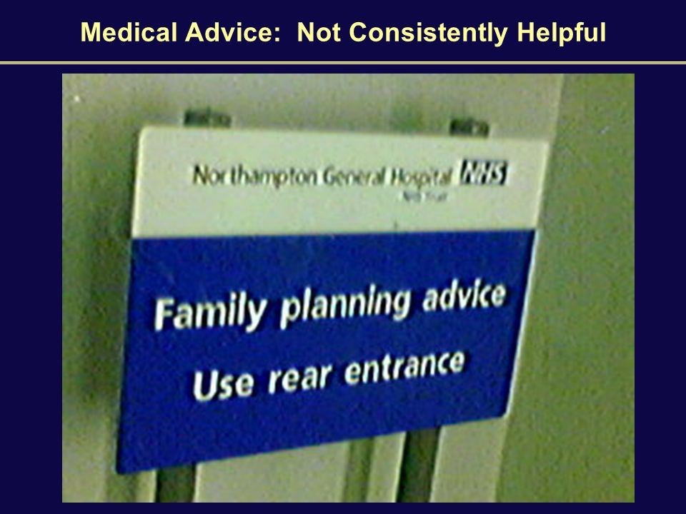 Medical Advice: Not Consistently Helpful