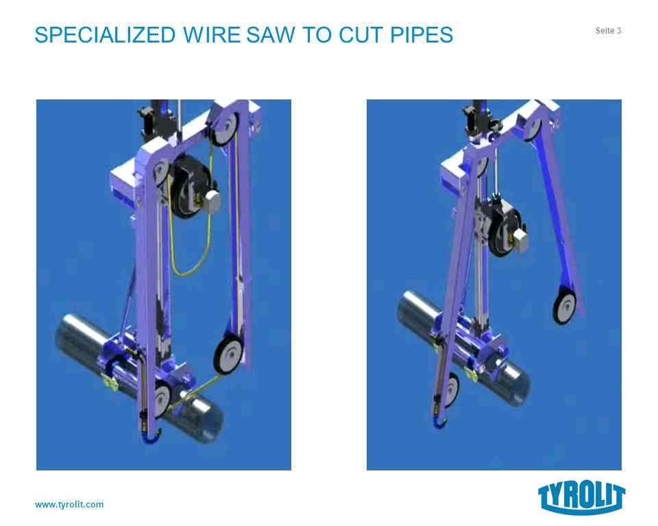 WIRE SAW TO CUT PIPES. SPECIALIZED WIRE SAW TO CUT PIPES Technical ...