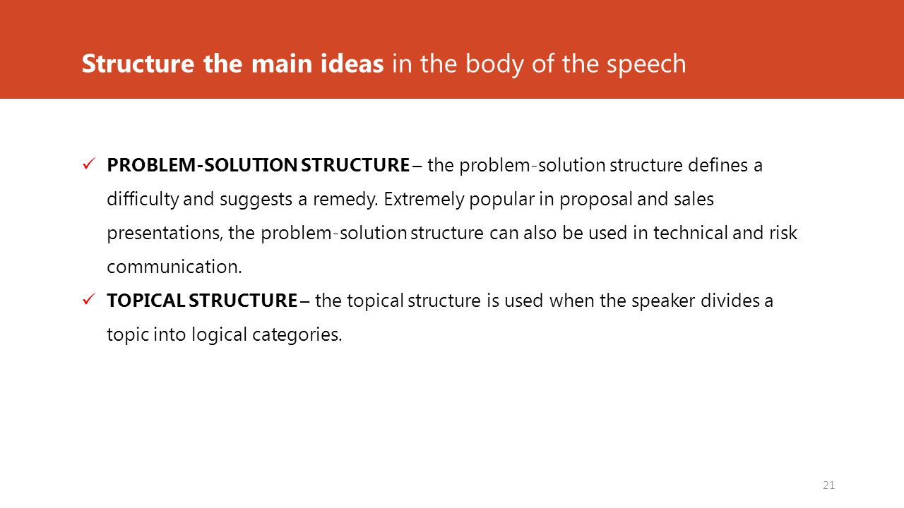 problem solution speech ideas
