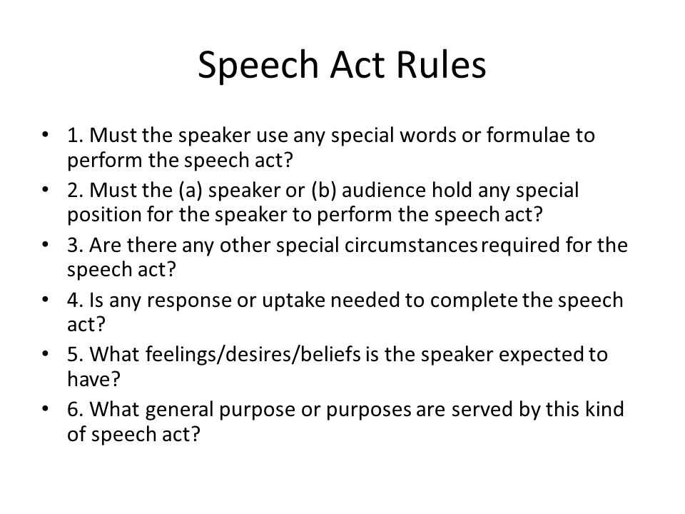 any kind of speech
