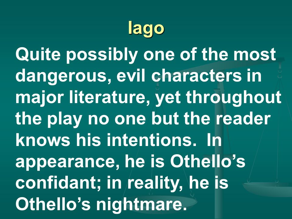evil in othello