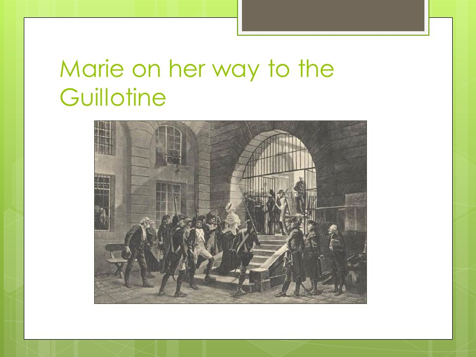 Marie on her way to the Guillotine