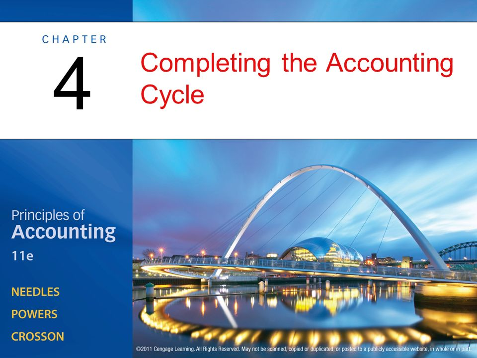 Completing the Accounting Cycle 4