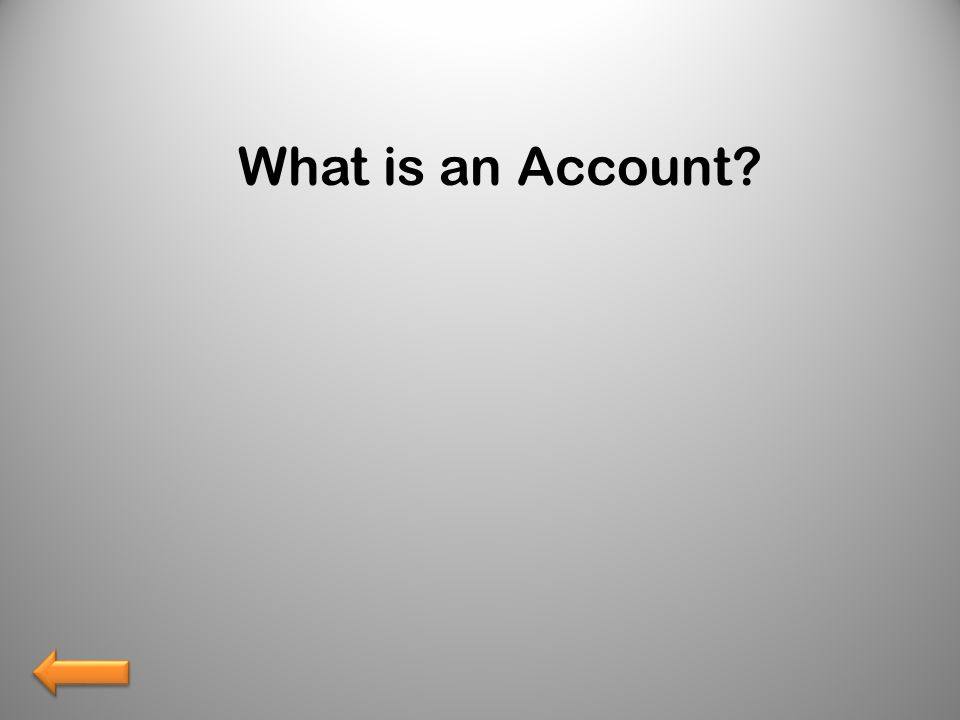 What is an Account