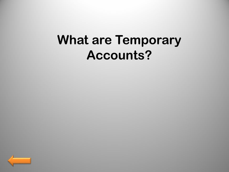What are Temporary Accounts