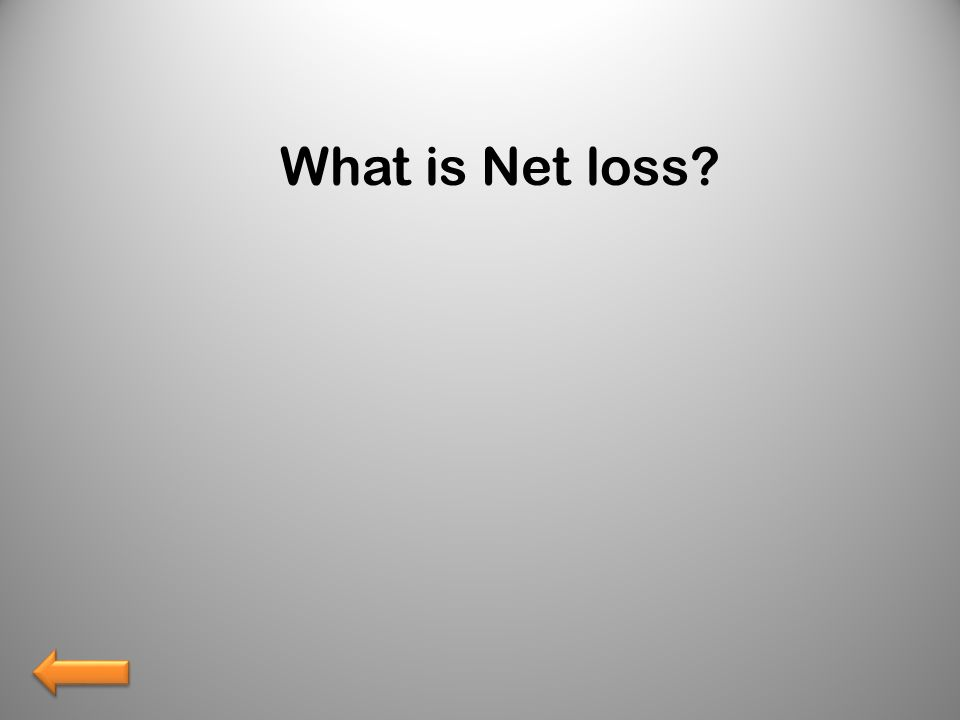 What is Net loss