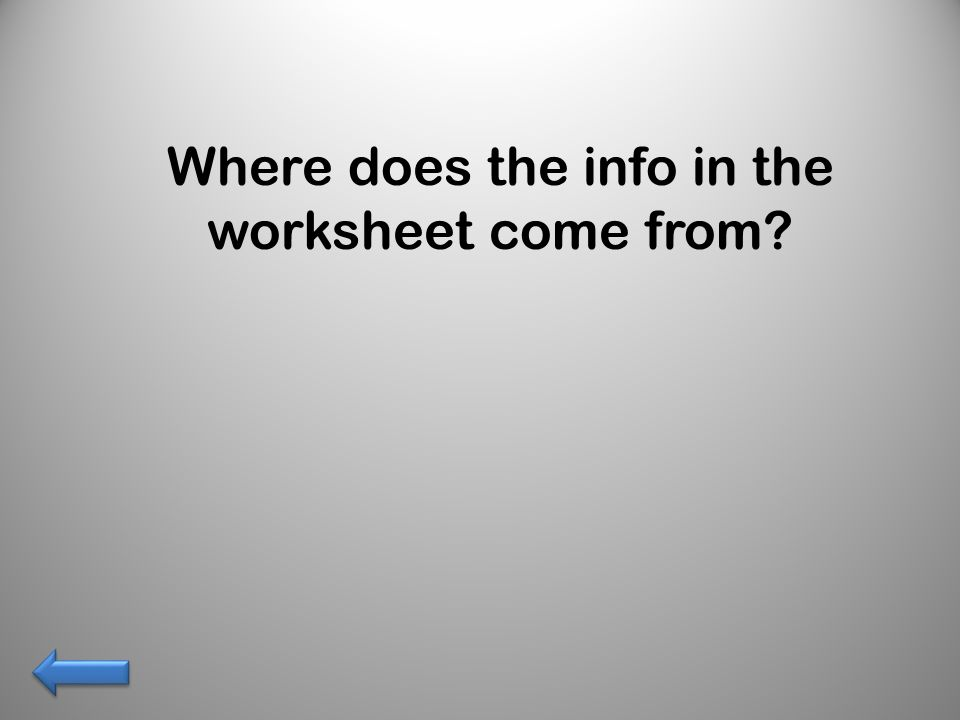 Where does the info in the worksheet come from
