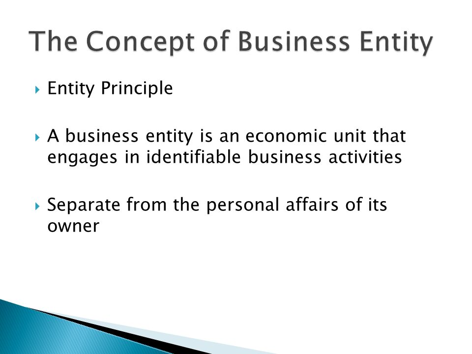 separate entity principle