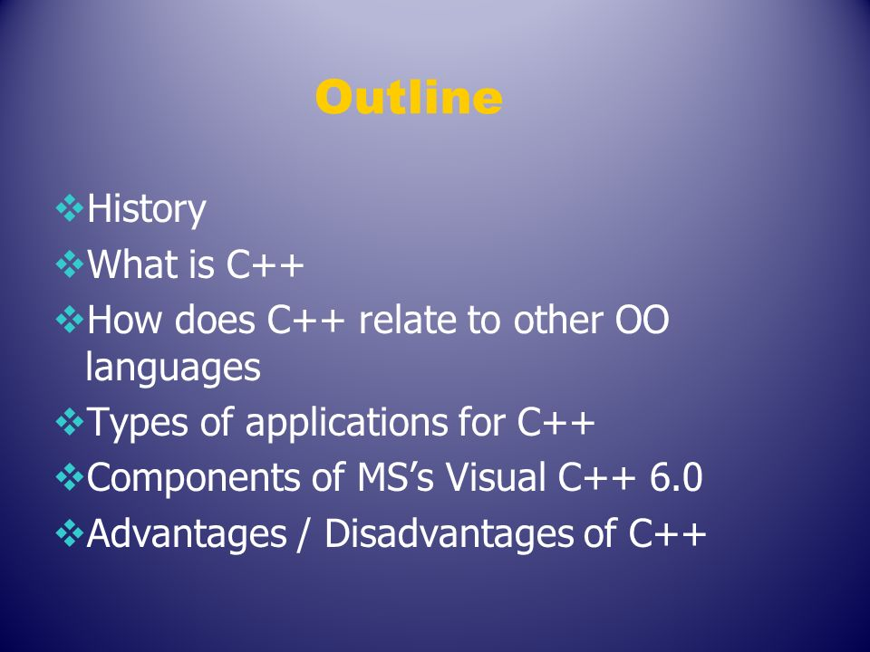 advantages and disadvantages of c