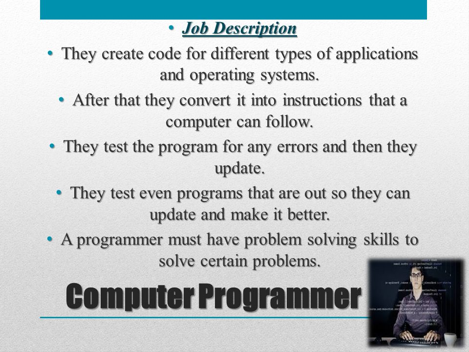 6 Computer Programmer Job Description ...