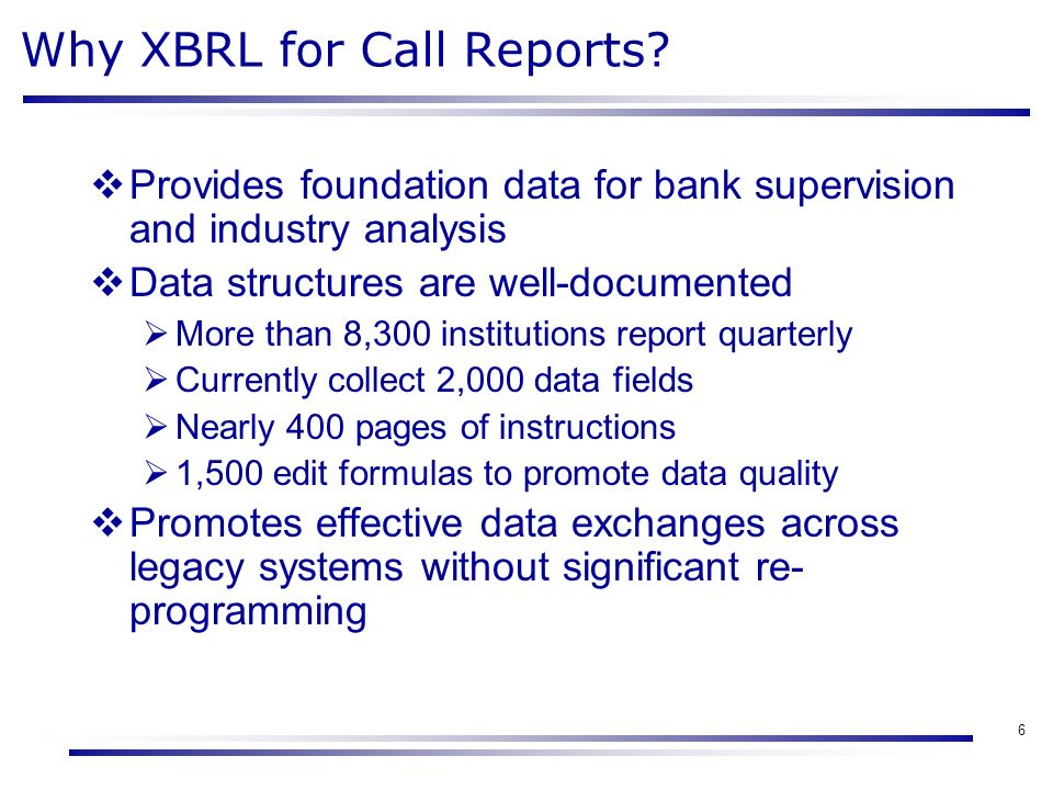 Overview Of Call Report Modernization Project Martin Henning Fdic