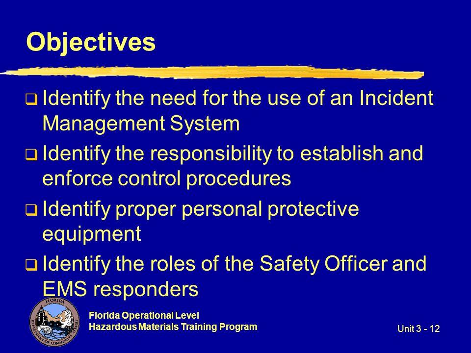 Florida Operational Level Hazardous Materials Training Program