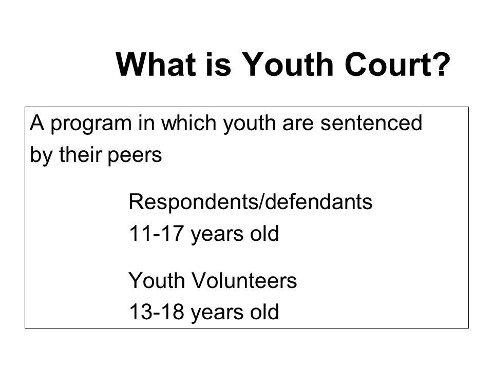Juvenile Court Sentencing Options