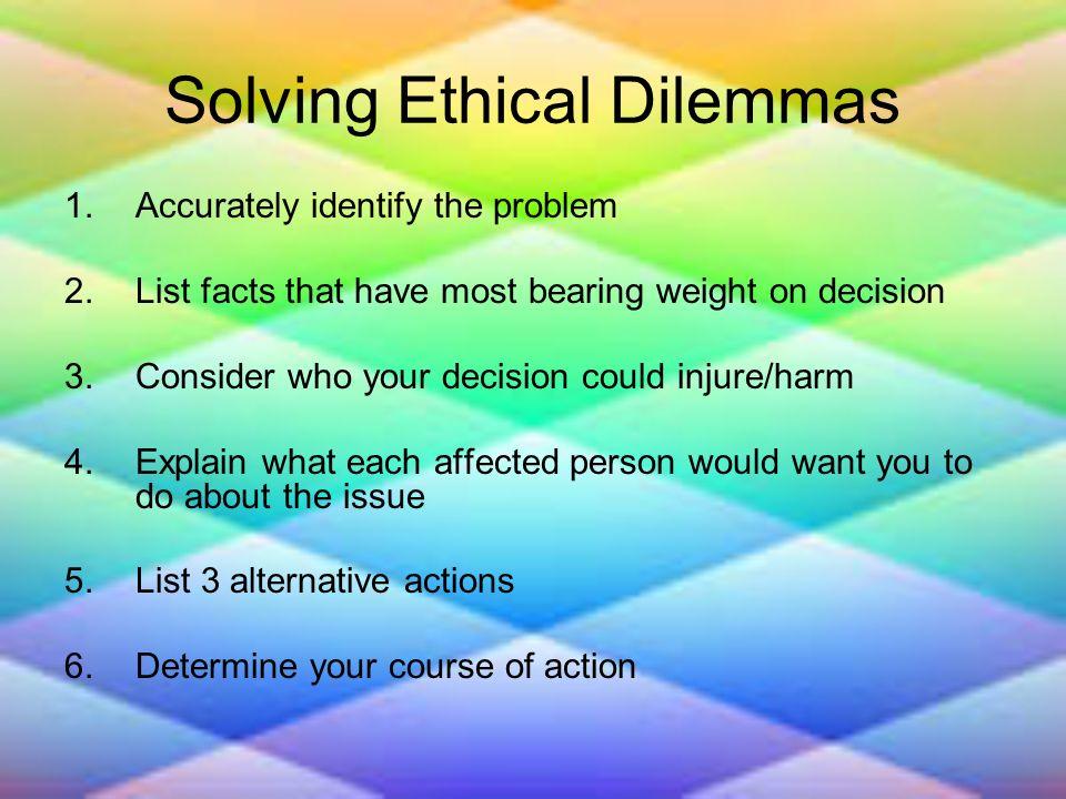 list of ethical dilemmas
