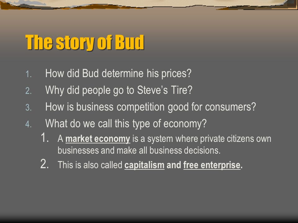 The story of Bud  Then Bud got another idea.  He would hire mechanics to fix tractors.