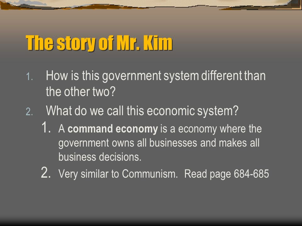 The story of Mr. Kim  Mr.