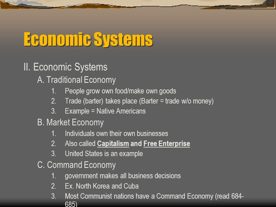 Read and outline page 94 Economic Systems