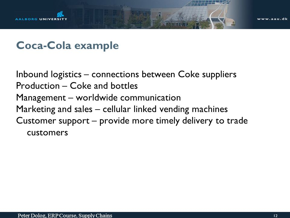 ERP Course: Supply Chain Chapter 9 from Mary Sumner Peter