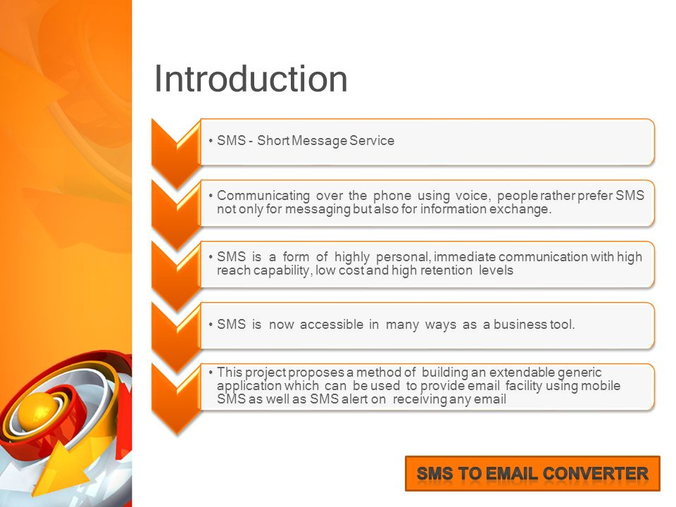 SMS to Converter - A new approach to send ppt download