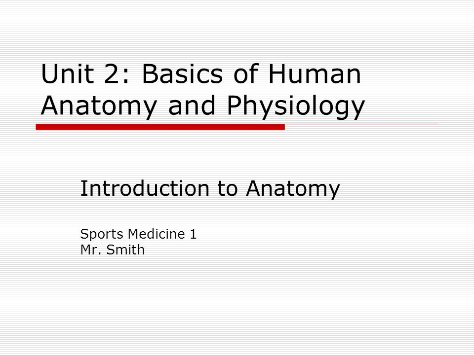 Unit 2 Basics Of Human Anatomy And Physiology Introduction To
