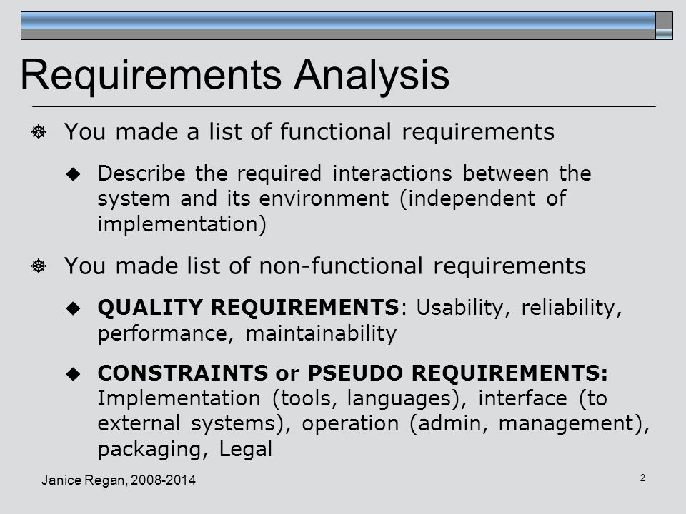 CMPT Software Engineering Requirements Analysis Phase - Requirement analysis