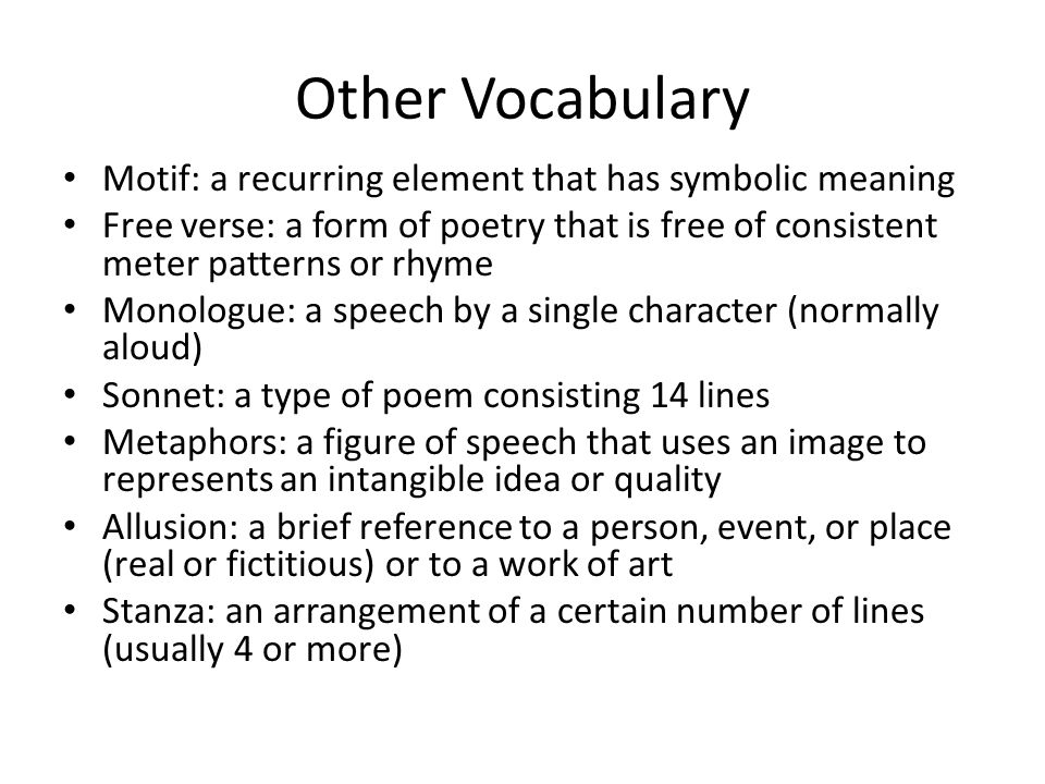Vocabulary Mood Symbolism What Does It Mean The Feeling Or