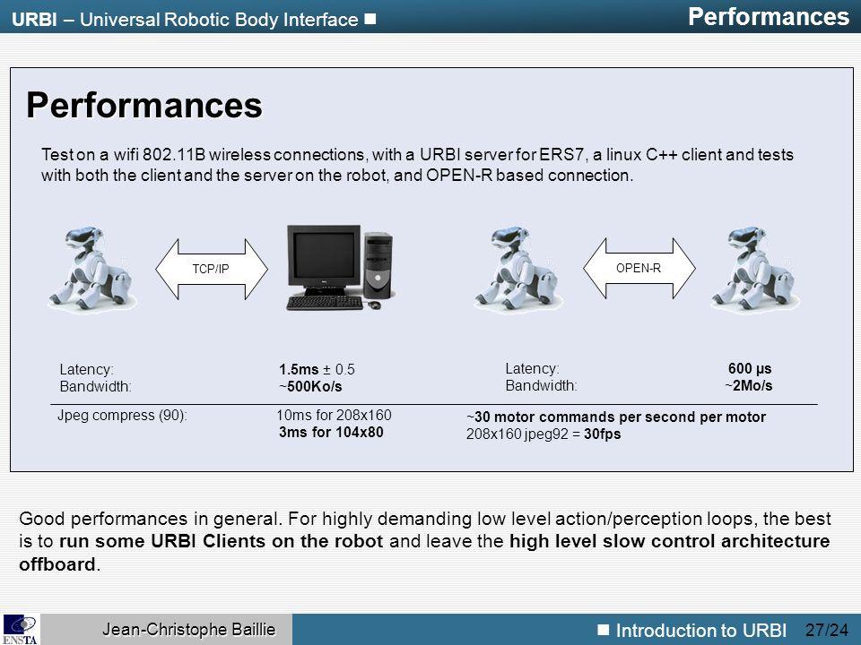 URBI – Universal Robotic Body Interface Jean-Christophe Baillie