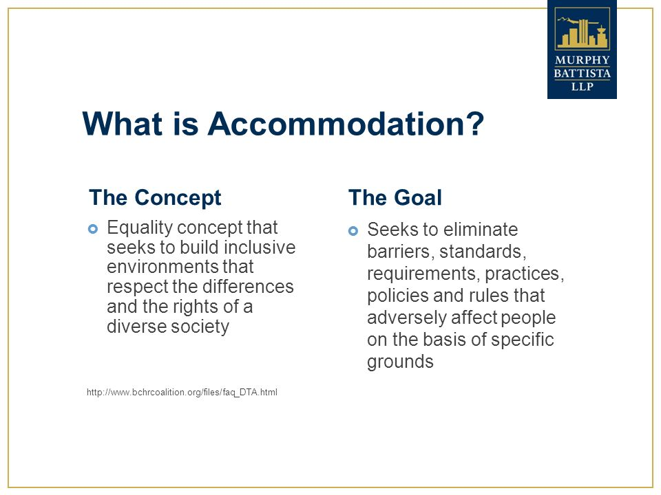 Policy on accommodating differences in the workplace