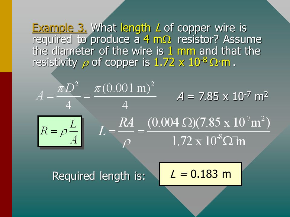Resistivity Of Copper Wire In Ohm Meters - WIRE Center •