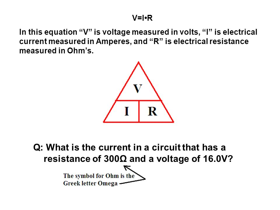 Warmup Concept Ohms Law Electrical Current Is A Measure Of The