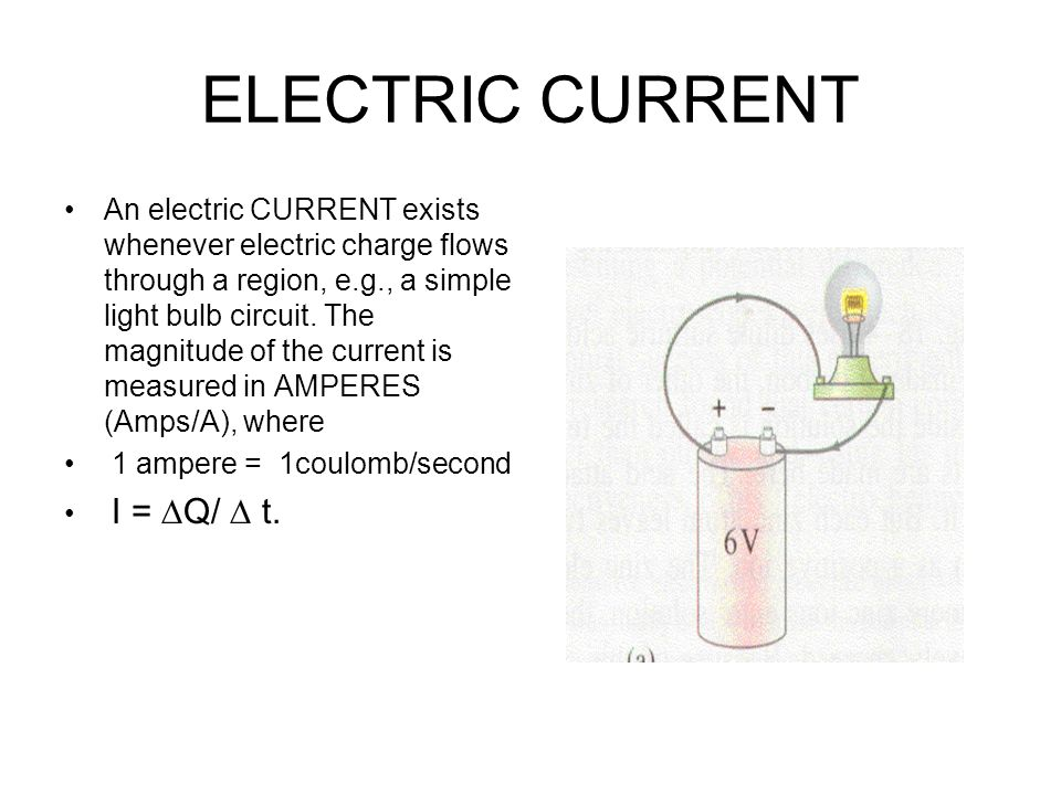 One ampere exists in a circuit when