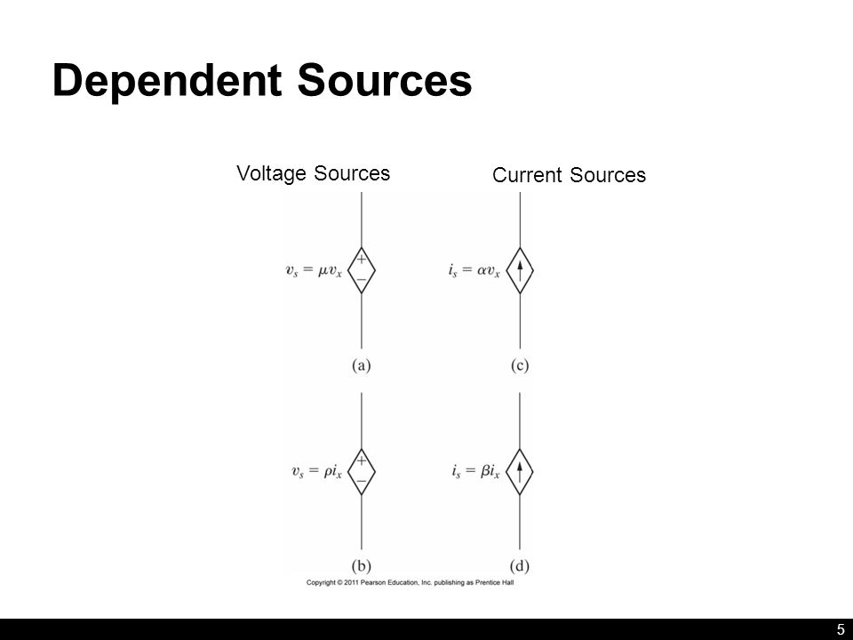Dependent Sources 5 Voltage Sources Current Sources