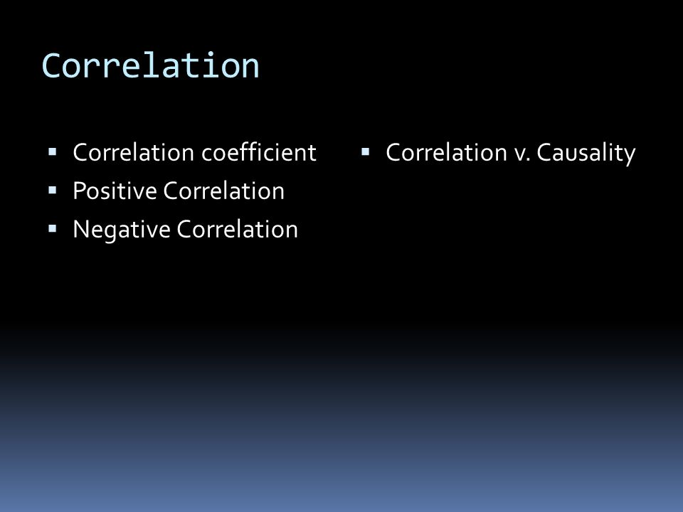 Correlation  Correlation coefficient  Positive Correlation  Negative Correlation  Correlation v.