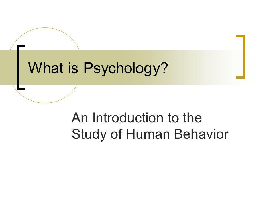 whats the study of human behavior