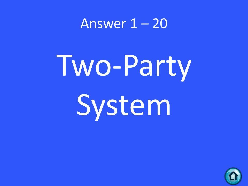 Answer 1 – 20 Two-Party System
