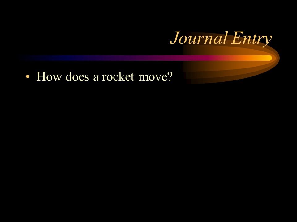 Journal Entry How does a rocket move