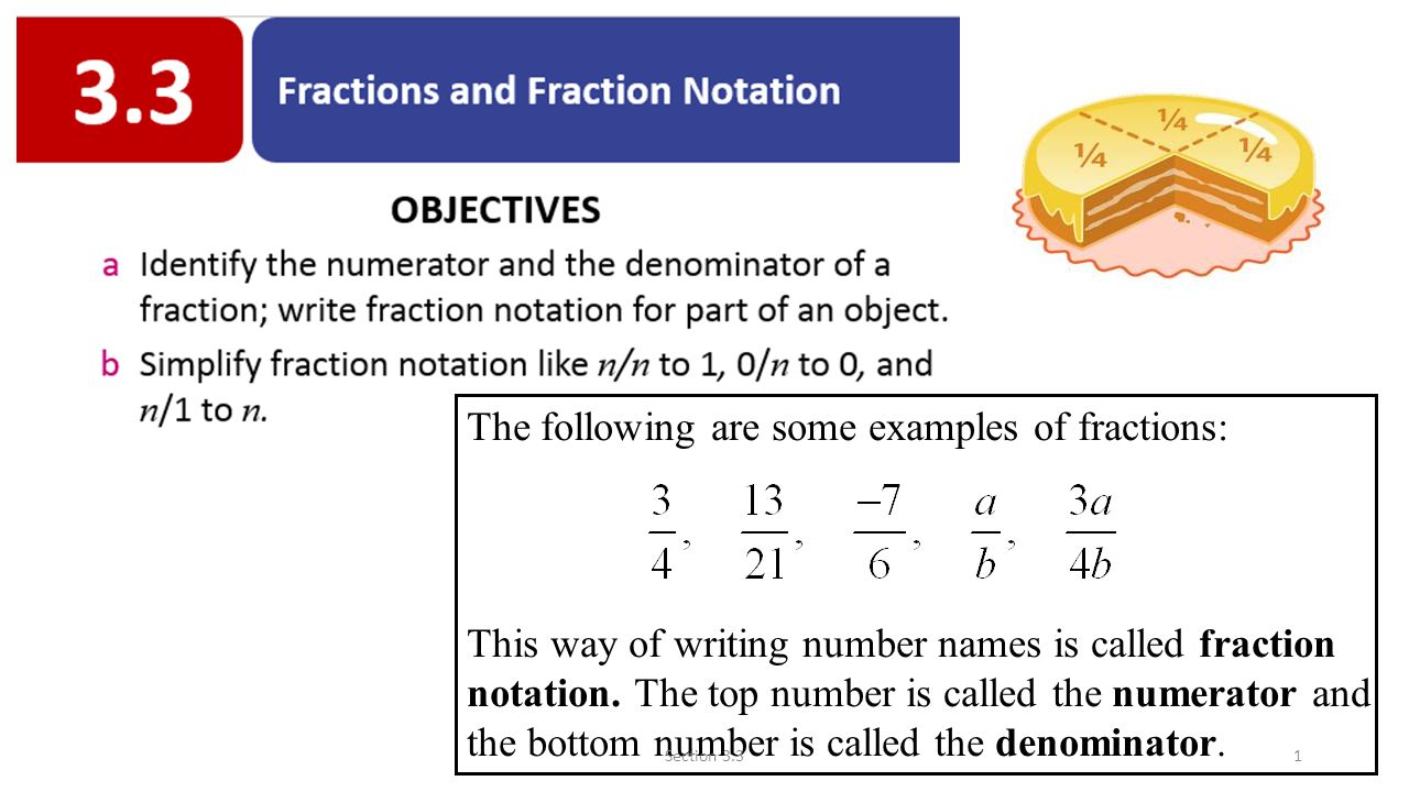 What are the fractions called 95