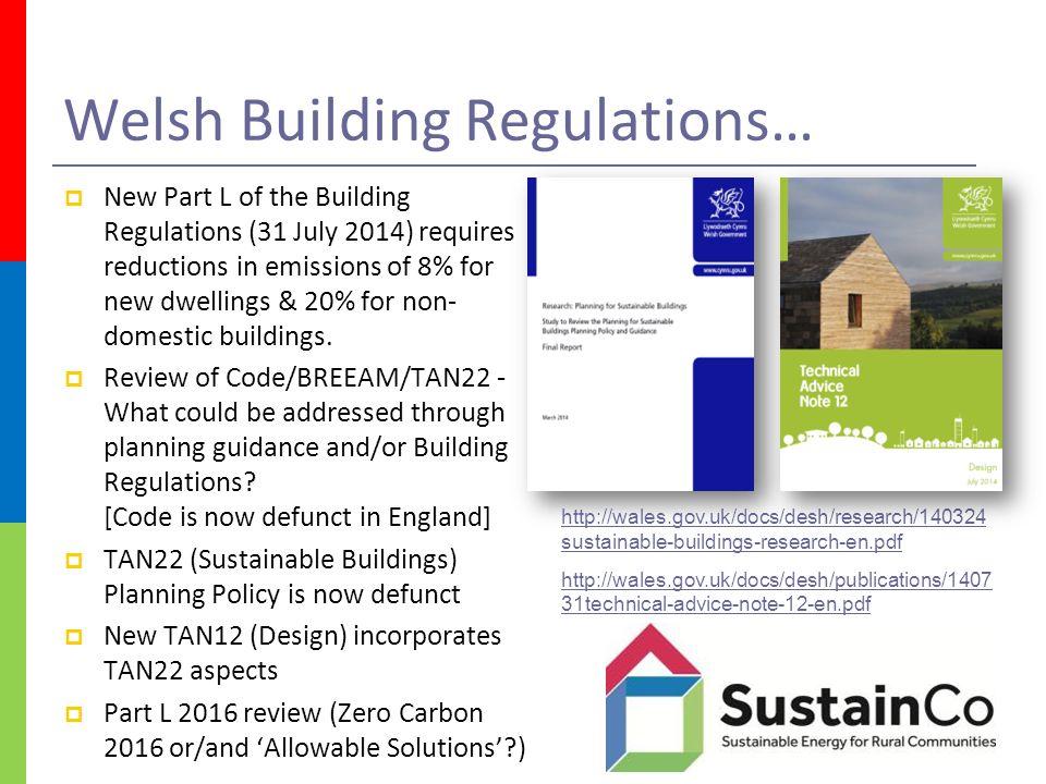 European   UK built environment regulations & future