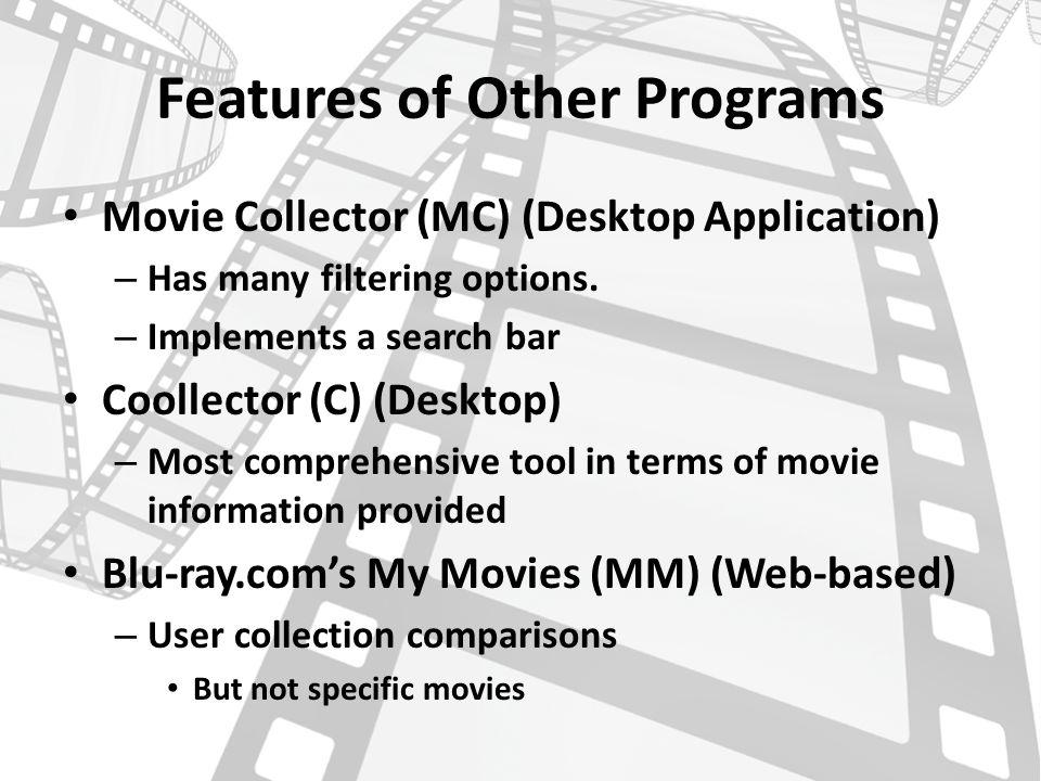 Movie Management Database Program Danny Solomon Capstone