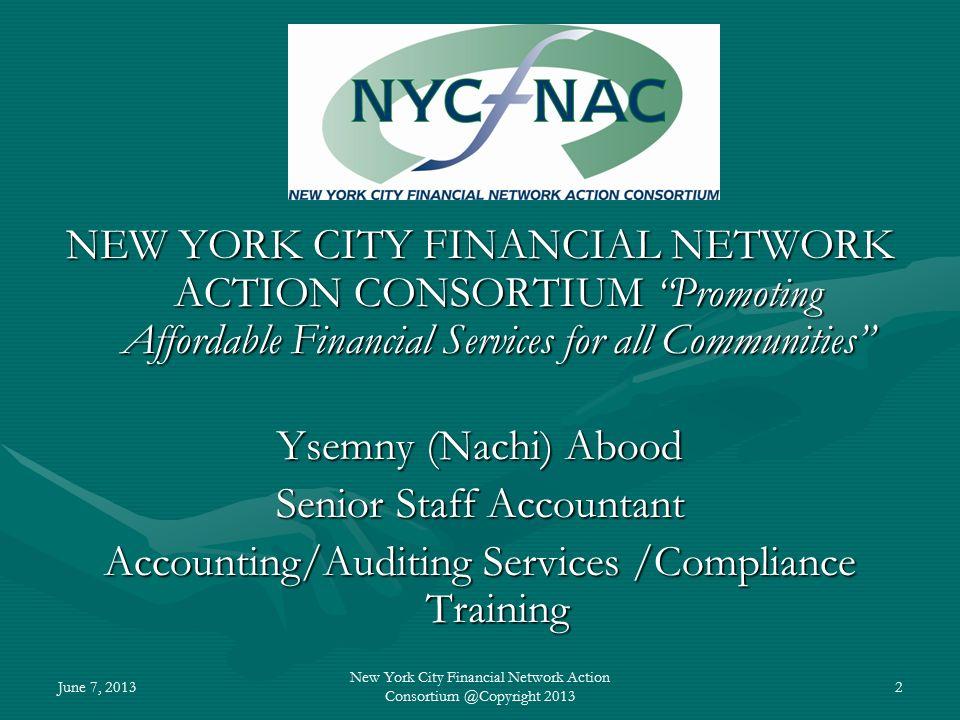 2 June 7 20131 New York City Financial