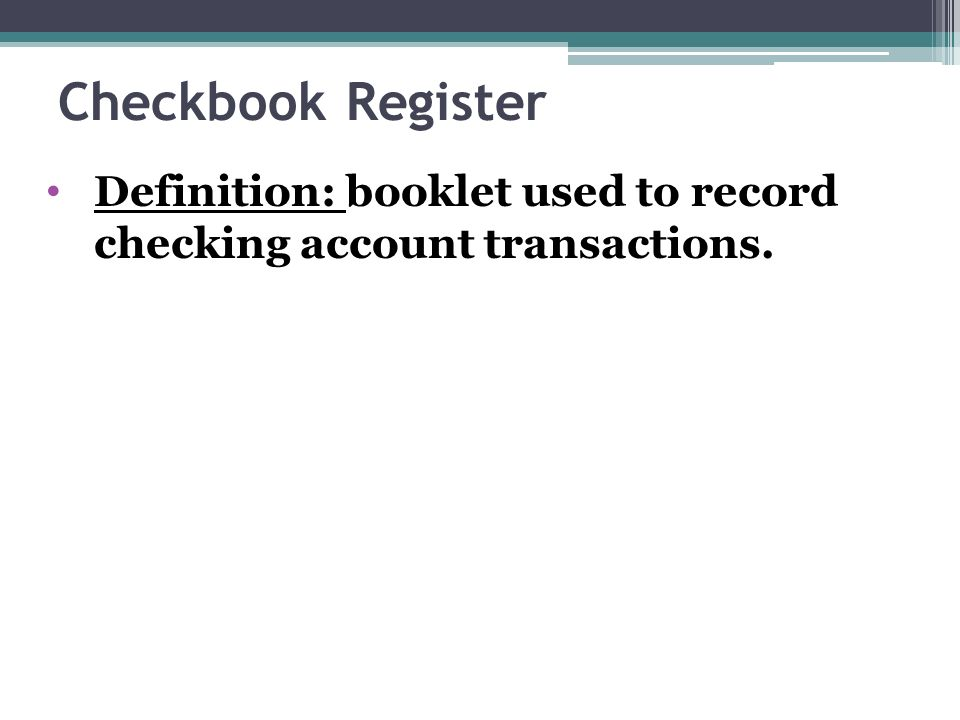 checking accounts chapter 9 basics check written order to bank