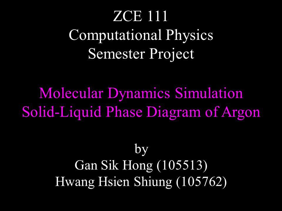 Molecular Dynamics Simulation Solid Liquid Phase Diagram Of Argon