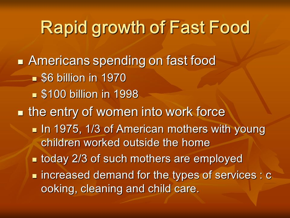 what is the main idea of fast food nation