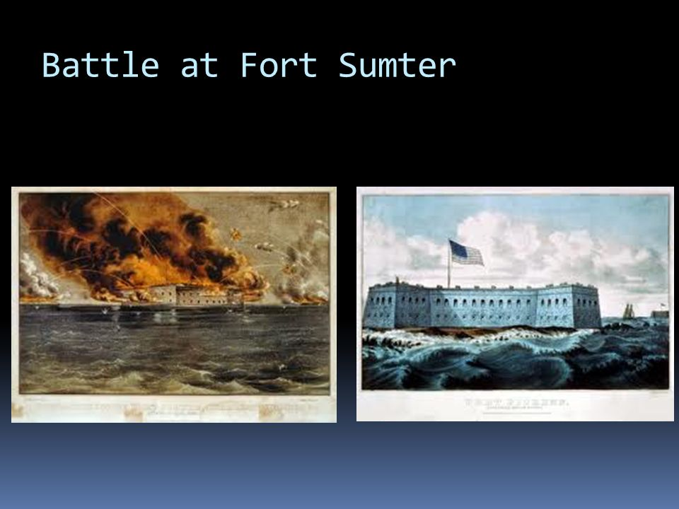 The Civil War Begins  The Civil War began with the Confederate attack on Fort Sumter on April 12, 1861.