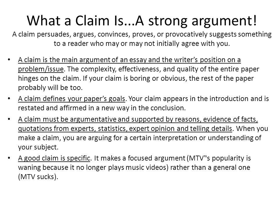 argumentative claims